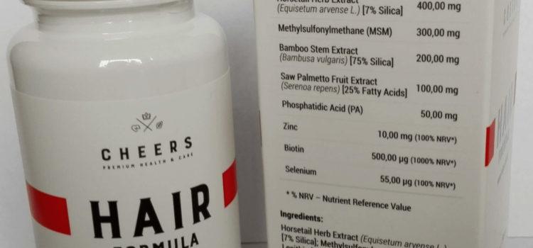 Hair Formula CHEERS Elegancki suplement dla łysiejących mężczyzn i kobiet
