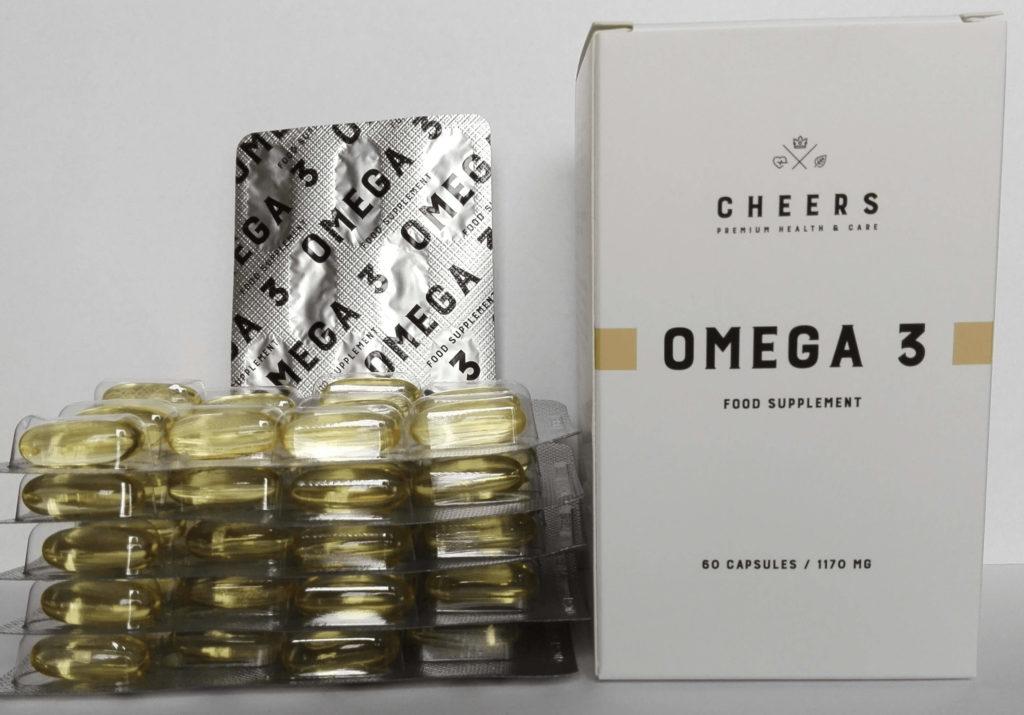 Omega 3 CHEERS. Wysoka dawka czystego EPA + DHA