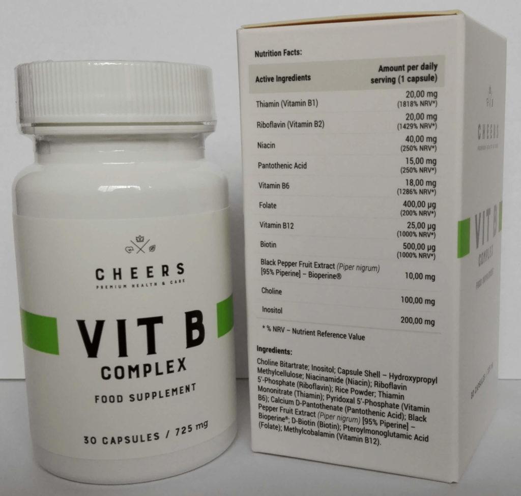 Vit B Complex CHEERS. Wszystkie witaminy z grupy B w wysokiej dawce