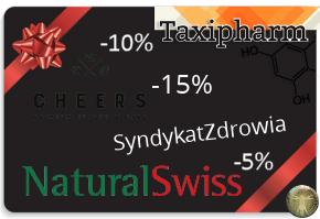 Kod rabatowy / zniżkowy SyndykatZdrowia Cheers TaxiVital NaturalSwiss