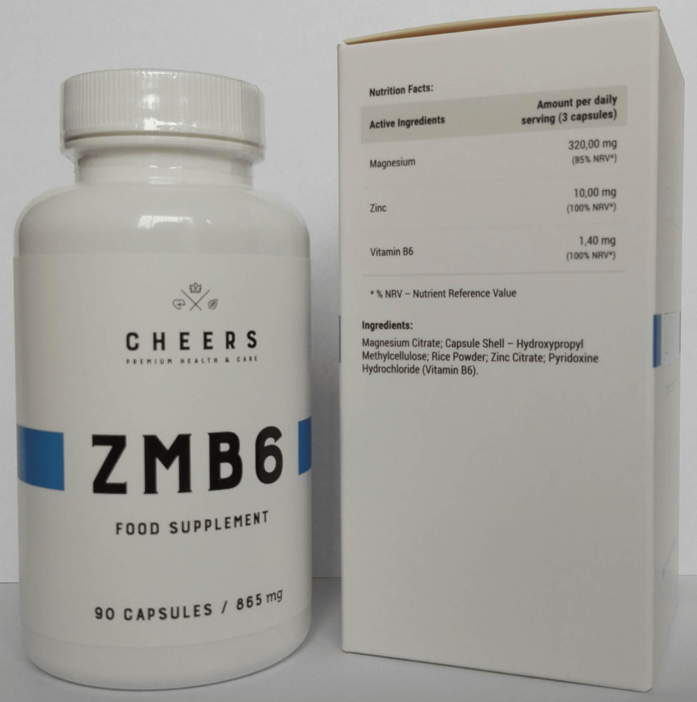 ZMB6 CHEERS - Wypróbowane ZMA w wersji PREMIUM