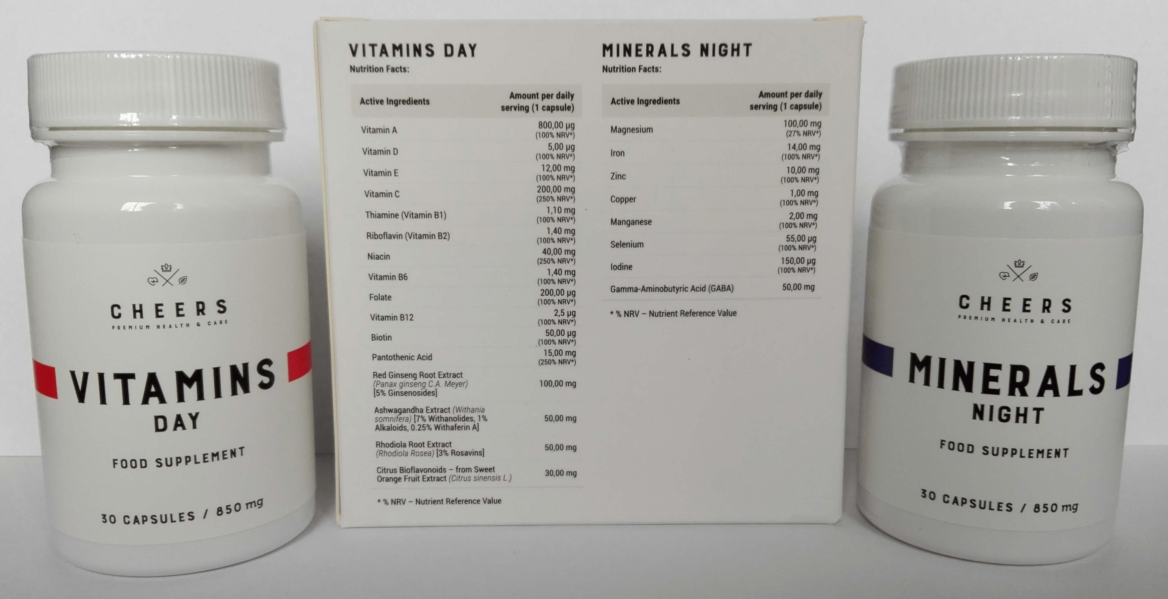 Vitamins Day & Minerals Night CHEERS